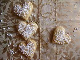heart shaped cookies and happy orthodox christmas russian season