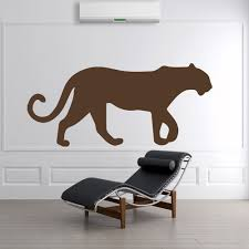 lions tigers wall stickers iconwallstickers panther silhouette big cat wild animals wall stickers home decor art decals