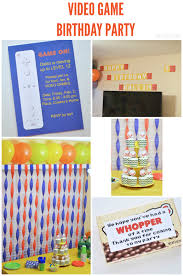 how to decorate for a birthday party at home video game birthday party the happy scraps