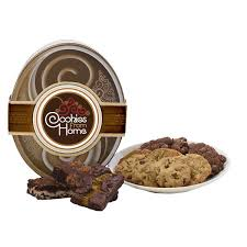 Cookie Gift Baskets Brown Oval Gift Tin Cookie Gift Gift Baskets