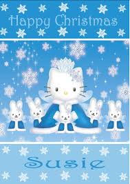 personalised hello kitty christmas card 2