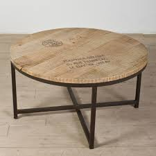round wood coffee table rustic round rustic brown wooden side table top with black metal legs of