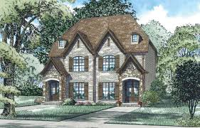 2 story euro duplex house plan 60684nd architectural designs