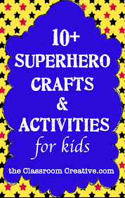 superhero crafts u0026 activities for kids