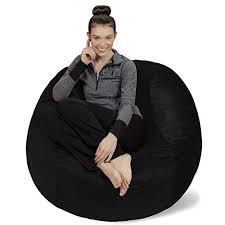bean bag chair furniture seat living bed sofa sack memory foam 4