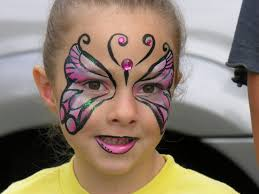Halloween Makeup Butterfly by Zombie Face Paint The Painted Otter
