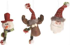 plush snowman moose santa ornaments happy holidayware