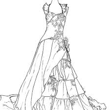 wedding dress coloring pages to really encourage in coloring image