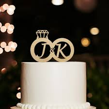 name cake toppers initial name with acrylic wooden silver monogram cake topper for