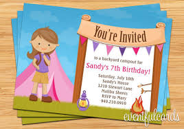 camping birthday party invitations theruntime com