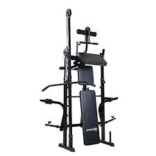weight and bench set goplus adjustable foldable weight lifting flat bench rack set