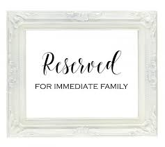 reserved signs for wedding tables reserved for family sign reserved seating sign wedding reception