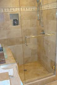 bathroom simple corner frameless shower door for small shower