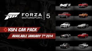 forza motorsport 5 cars forza motorsport 5 unveils ign car pack dlc
