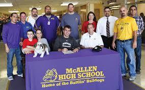 mcallen memorial high school yearbook mcallen bulldog signs with college in maine mcallen independent