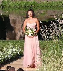 Pink Bridesmaid Dresses Nina Dobrev U0027s Bridesmaid Dress For Julianne Hough U0027s Wedding