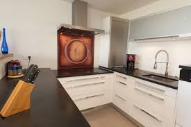 plan de travail cuisine blanc laqué stunning cuisine noir plan de travail bois blanc ideas