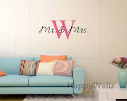 aliexpress com buy mr mrs name custom wall sticker diy family