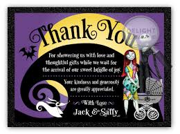 nightmare before baby shower thank you cards di 4541ty