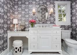 Makeup Vanity Bathroom Makeup Vanity Set Bathroom Traditional With Moulding Marble
