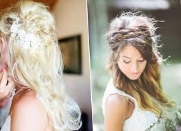 coiffure pour mariage cheveux mi coiffure lachee mariage les tendances mode du automne hiver 2017