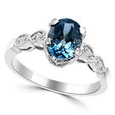 london blue topaz engagement ring london blue topaz diamond engagement ring antique style