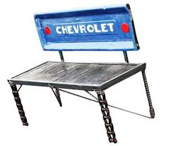 Bench Made From Tailgate Buy A Hand Crafted Custom Made Upcycled Chevrolet Truck Tailgate