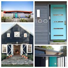 mid century modern exterior house paint colors decor image with