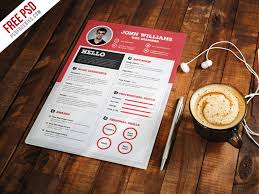 free resume templates download psd templates clean and sharp resume cv template free psd download download psd