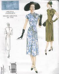 vogue pattern 2787 vintage dress design from 1948 sizes 18 20 22