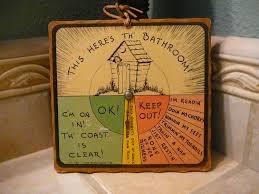 retro bathroom decor signs vintage bathroom sign 1943