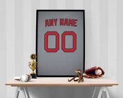 Boston Red Sox Home Decor Red Sox Nursery Etsy