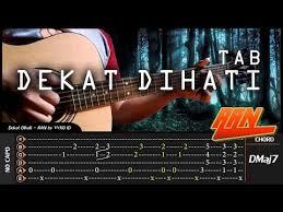 belajar kunci gitar ran dekat di hati ran dekat di hati fingerstyle tab chord tutorial tab untuk