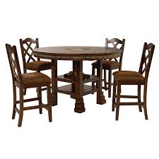 The Brick Dining Room Furniture Santa Fe 5 Piece High Dining Set El Dorado Furniture