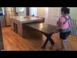 ilot de cuisine table coulissante de retour
