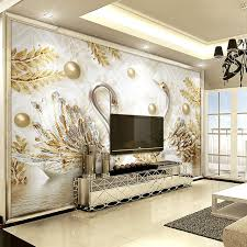 3d Wallpaper Interior Luxury Wallpaper Jewelry Swan Wall Mural Custom 3d Wallpaper For