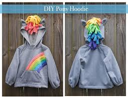 diy pony sweatshirt u2013 easy craft and sew
