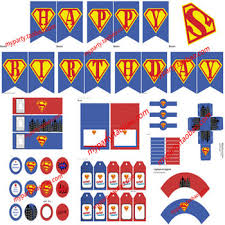 Superman Birthday Party Decoration Ideas Buy Childrens Babys Birthday Party Supplies Superman Theme Party A