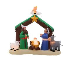 home accents holiday 7 ft inflatable nativity scene 36707 the