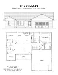 floor plan vans realty construction 1900 square feet house design