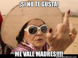 Memes De Me Vale - si no te gusta me vale madres meme de carmen salinas cool