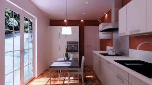 cuisine incorporé cuisine integree avec lineraire et mur de colonnes cuisiniste