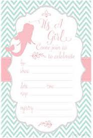 mermaid baby shower invitations mermaid girl baby shower invitation fill in style 10