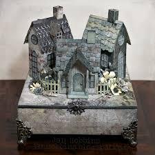 tim holtz halloween dies village on a box in my own imagination