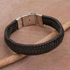 braided weave bracelet images Unicef market braided leather wristband bracelet in black from jpg