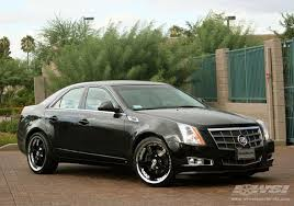black cadillac cts 2008 cadillac cts with 20 gianelle spezia 5 in chrome black