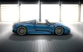 blue porsche spyder pure energy the 918 spyder