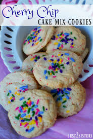check out cherry chip cake mix cookies with sprinkles it u0027s so