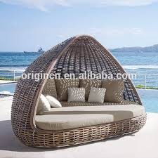 Outdoor Wicker Daybed In Stock Item Home Patio Thick Rattan Material Pyamidal