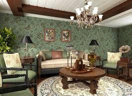 wohnzimmer tapeten design wohnzimmer tapeten design mit einem grünen grundfarbe und florals